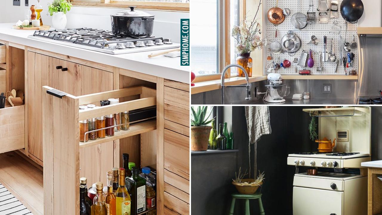 10 DIY Built In Kitchen Storage Ideas via Simphome.com