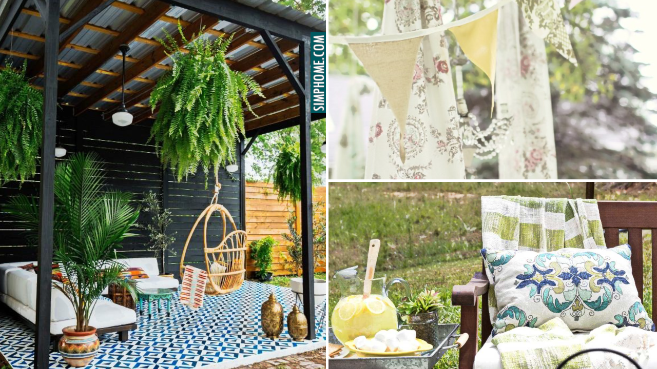10 DIY backyard Decor Ideas via Simphome.com Featured Image