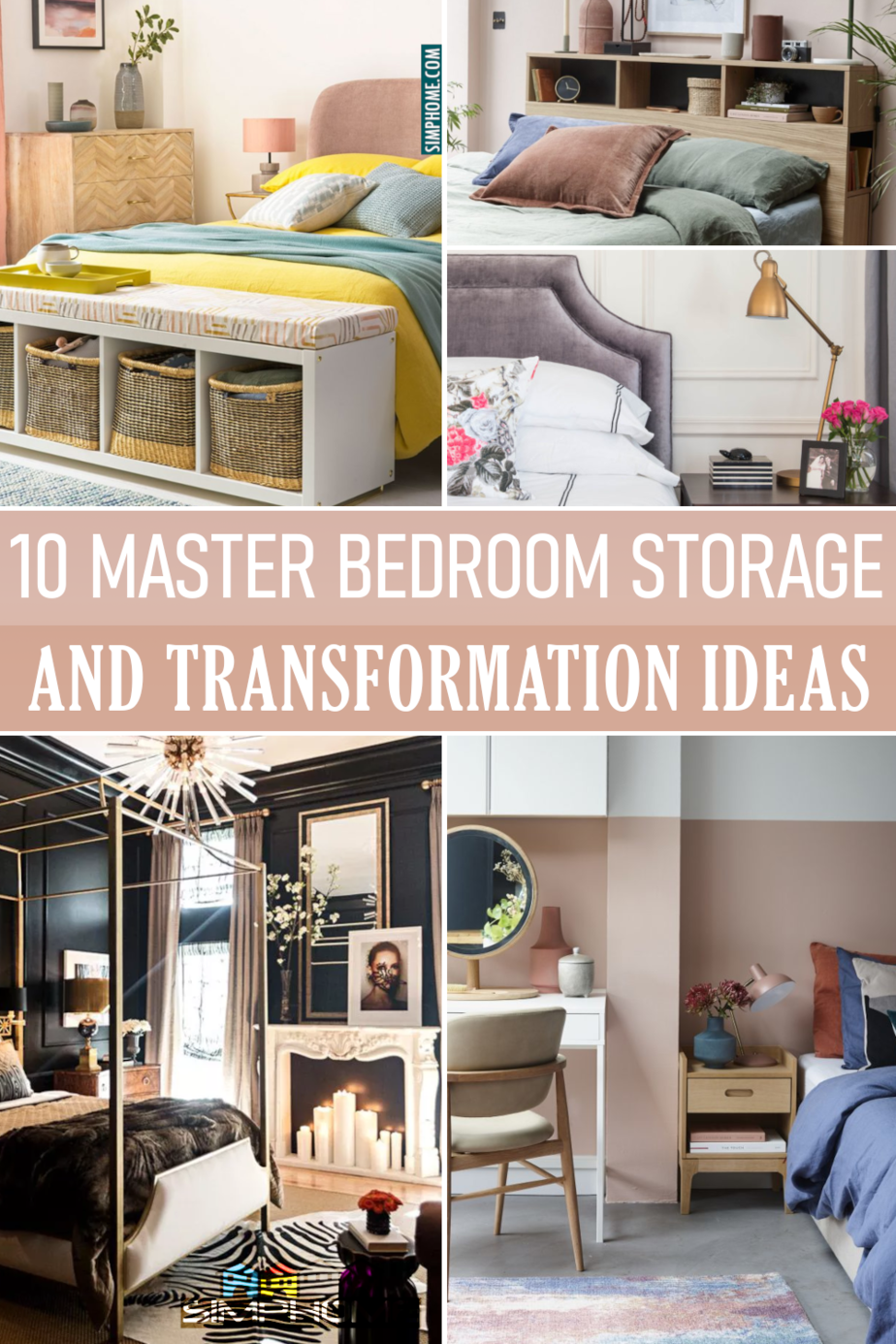 10 Master Bedroom Storage and Transformation Ideas via Simphome.comFeatured image