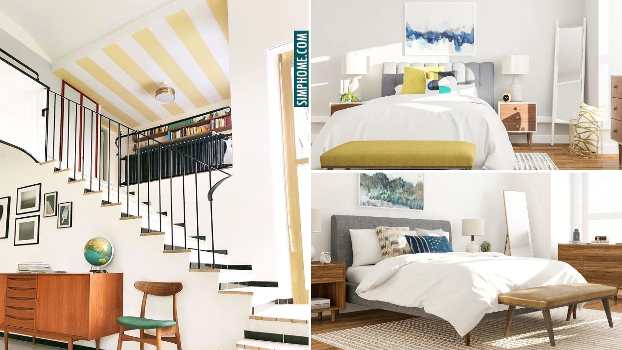 10 Mid century Modern Bedroom Decor Ideas via Simphome.com