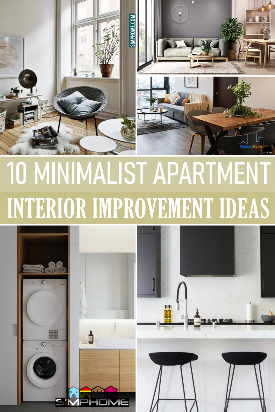 10 Minimalist Apartment Interior Improvement Ideas by Simphome.comFeatured