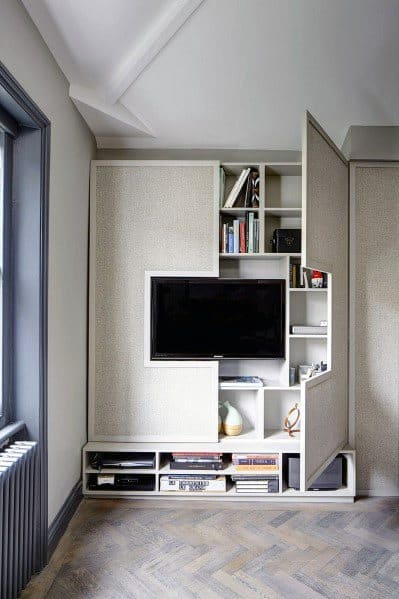 10.Built in TV Cabinet Makeover Ideas via Simphome.com