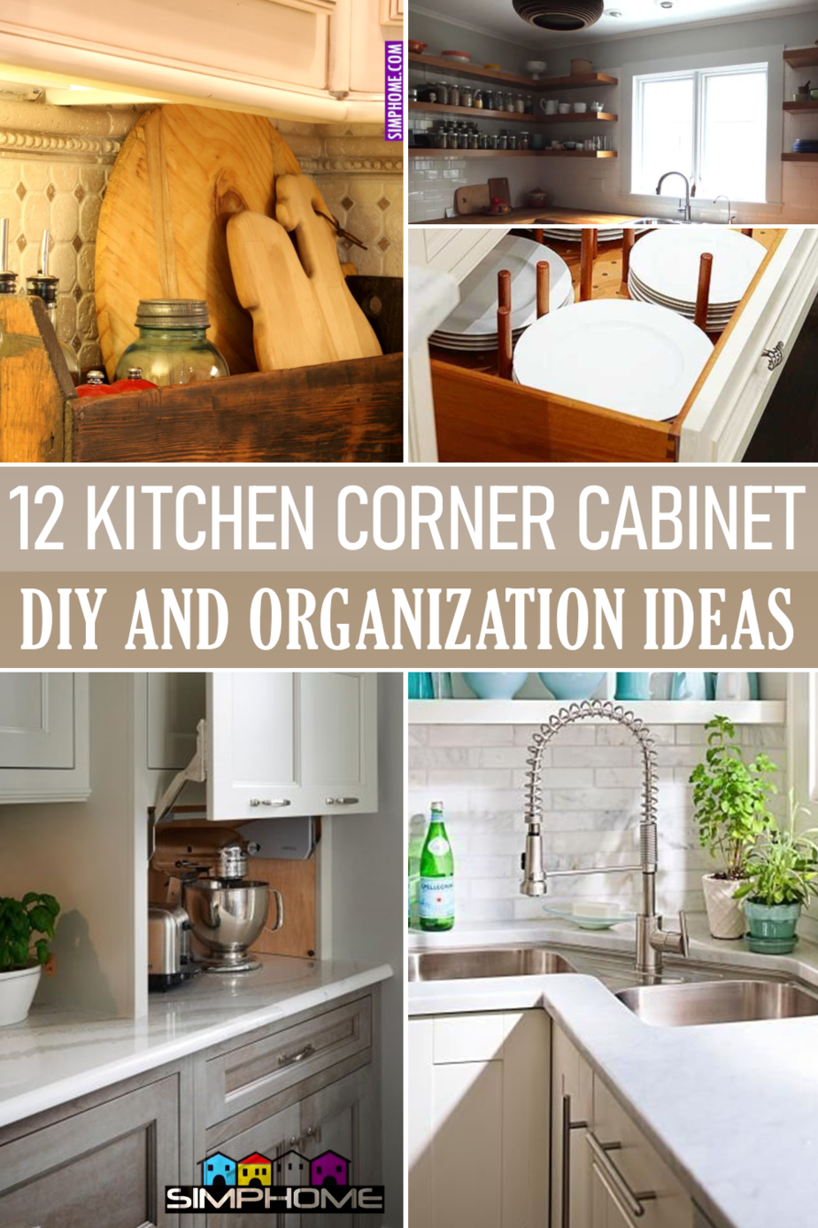 12 Kitchen Corner Cabinet and Organization via Simphome.comFeatured Image
