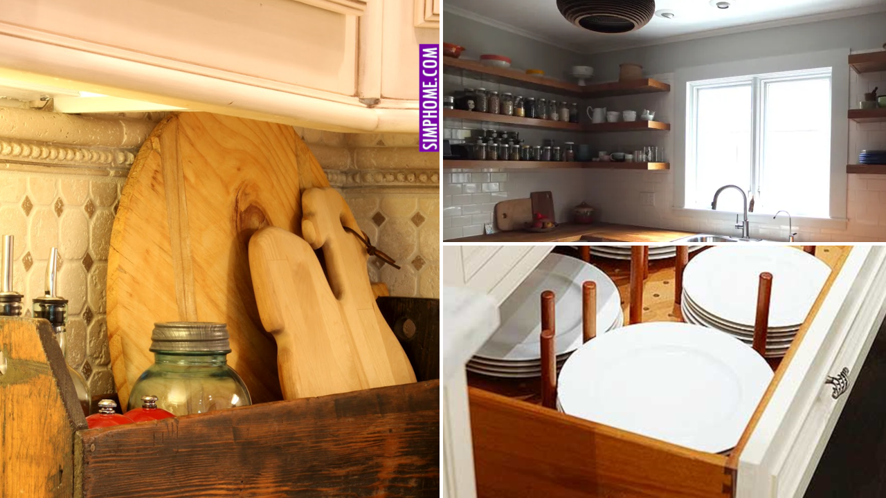 12 Kitchen Corner Cabinet and Organization via Simphome.comThumbnail Web