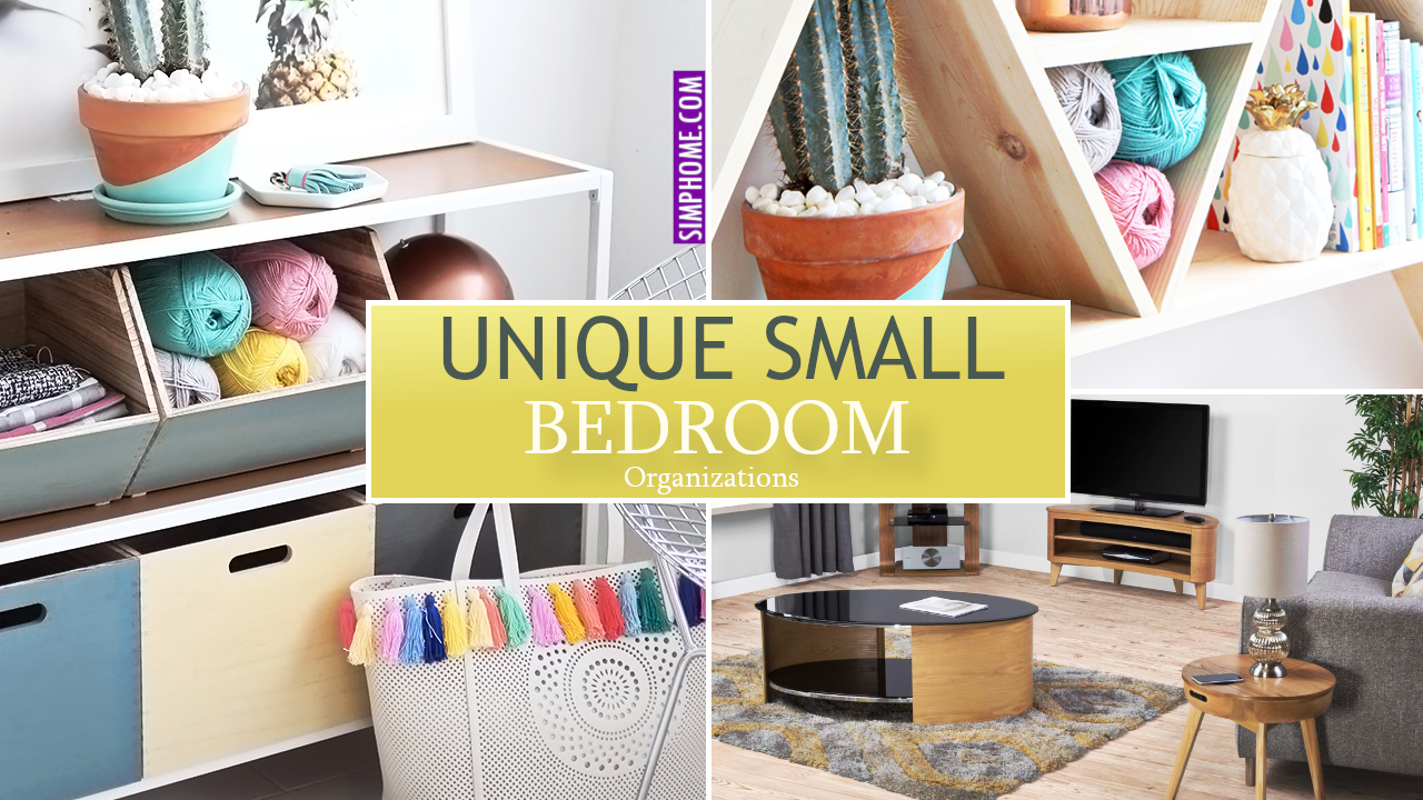 12 Unique Organization Ideas for Small bedroom via Simphome.comvid thumbnail