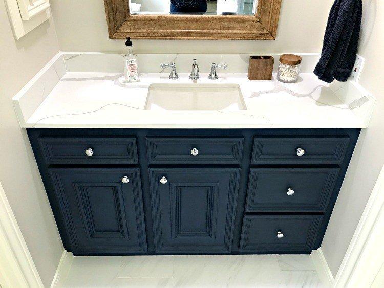 12.diy chalk paint bathroom vanity makeover by Simphome.com
