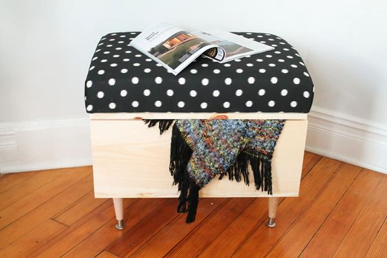 2.Try DIY Ottoman with Storage via Simphome.com