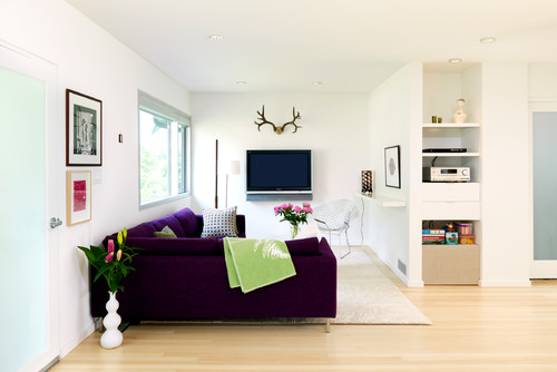 3.A Large Sectional and Compact Chairs for Compact Space via Simphome.com