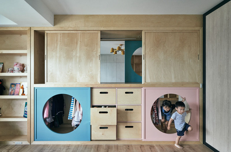 3.A Wardrobe with Tunnels To Children Bedroom via Simphome.com Direct view