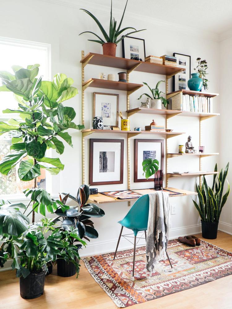 3.DIY Multifunctional Wall Desk via Simphome.com