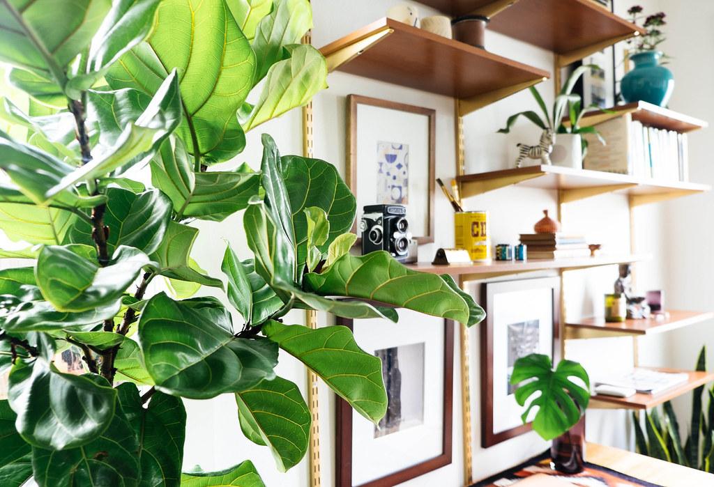 3.DIY Multifunctional Wall Desk with Leaves via Simphome.com