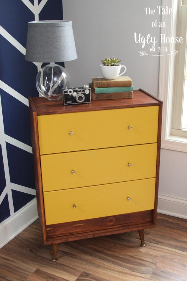 4.Makeover Your Dresser for a Mid Century Modern Look via Simphome.com