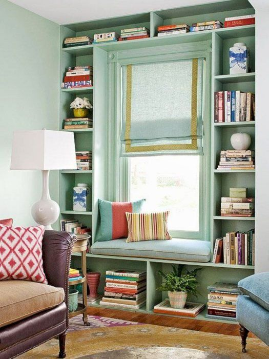 6.Ceiling BookShelf Inspiration via Simphome.com