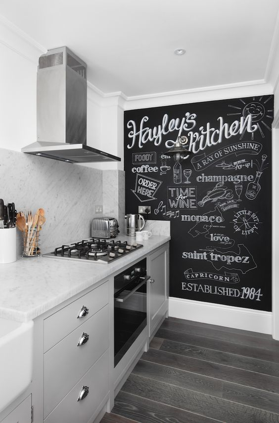 7.Incorporate a Chalkboard Wall By Simphome.com