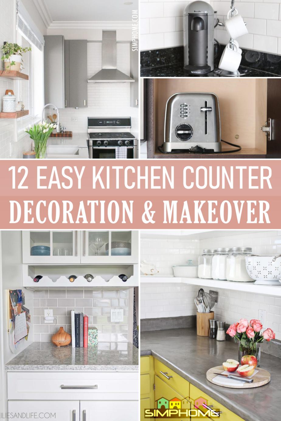 Easy Counter Makeover Ideas via Simphome.com Main Featured