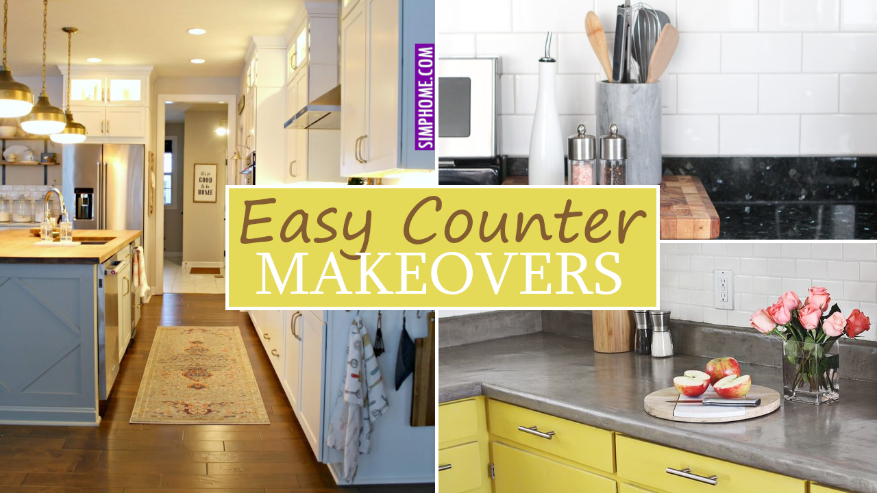 Easy Counter Makeover via Simphome.com