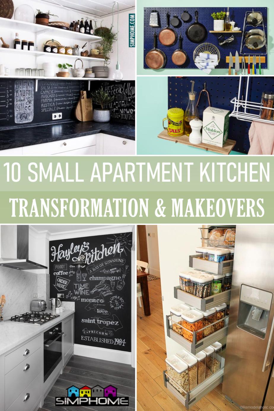 Small Apartment Kitchen Ideas via Simphome.comFeatured Image