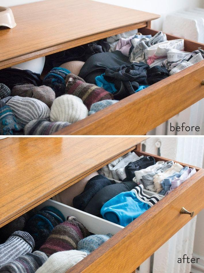 1. DIY Drawer Dividers for Large Organization by simphome.com .