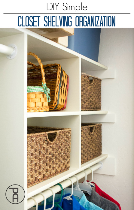 1. Finish it with this awesome but simple closet shelving organization by simphome.com