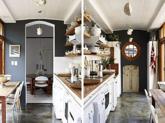1. Nautical themed Galley Kitchen by simphome.com