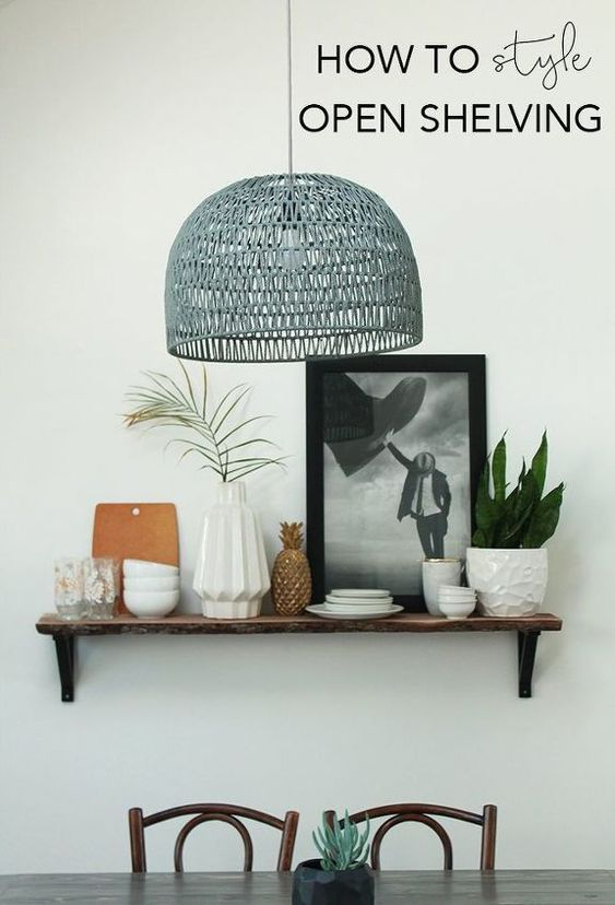 1. Re Style it with this open shelving idea by simphome.com