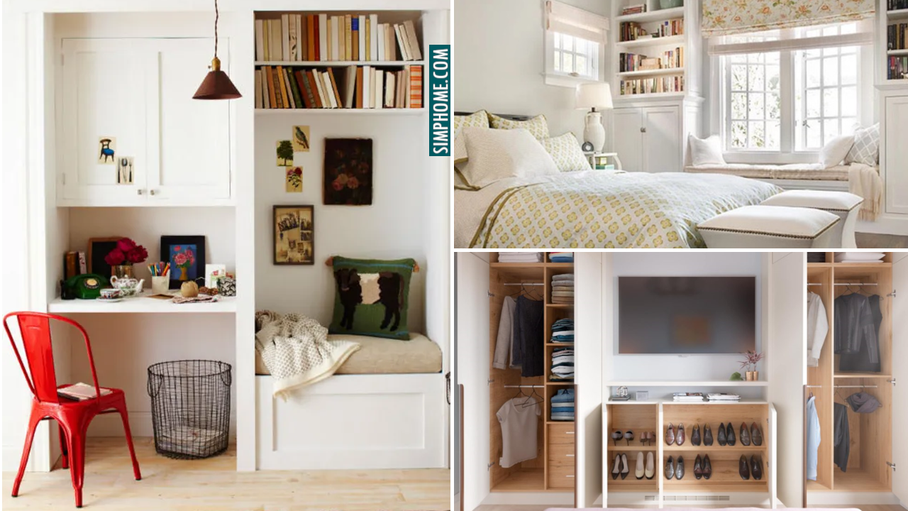 10 Built In Bedroom Cabinets Ideas via Simphome.com