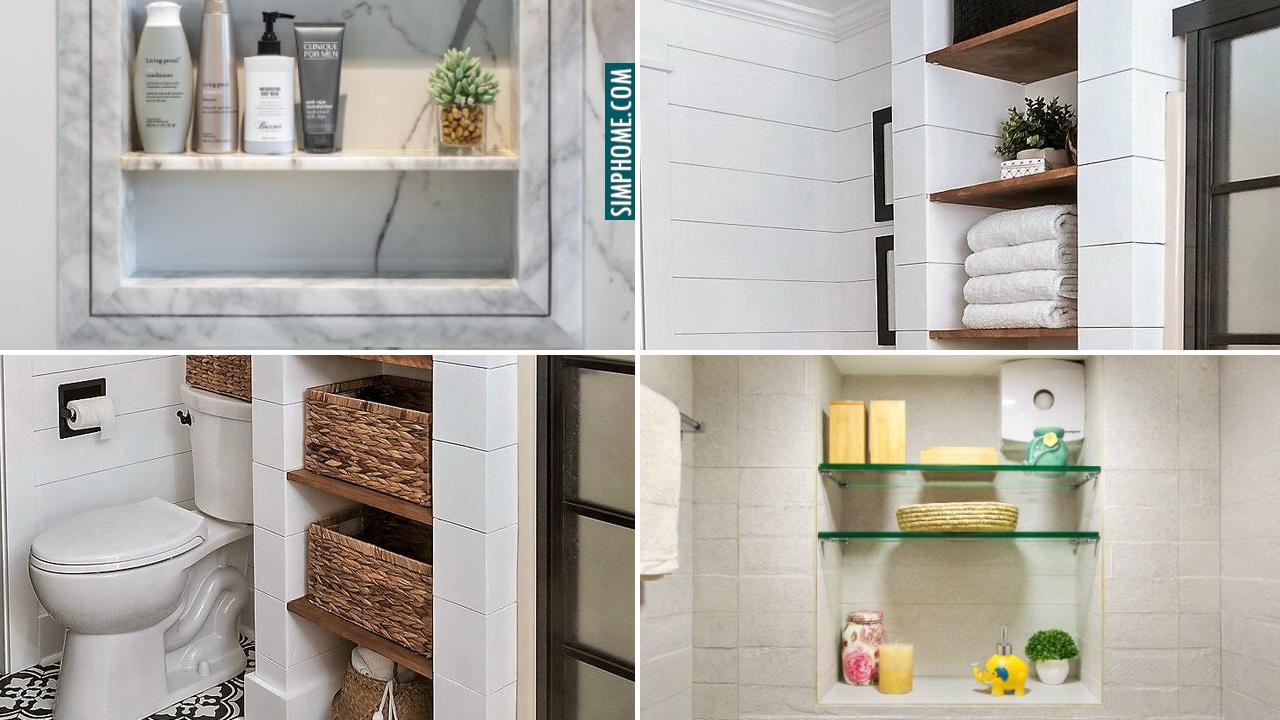 10 DIY Built in Bathroom Storage Ideas via Simphome.comThumbnail