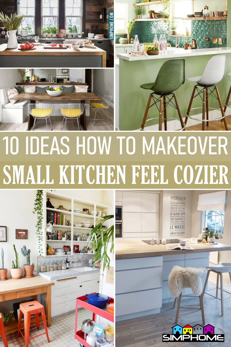 10 Ideas on How to Turn Your Small Kitchen Cozier via Simphome.comFeatured