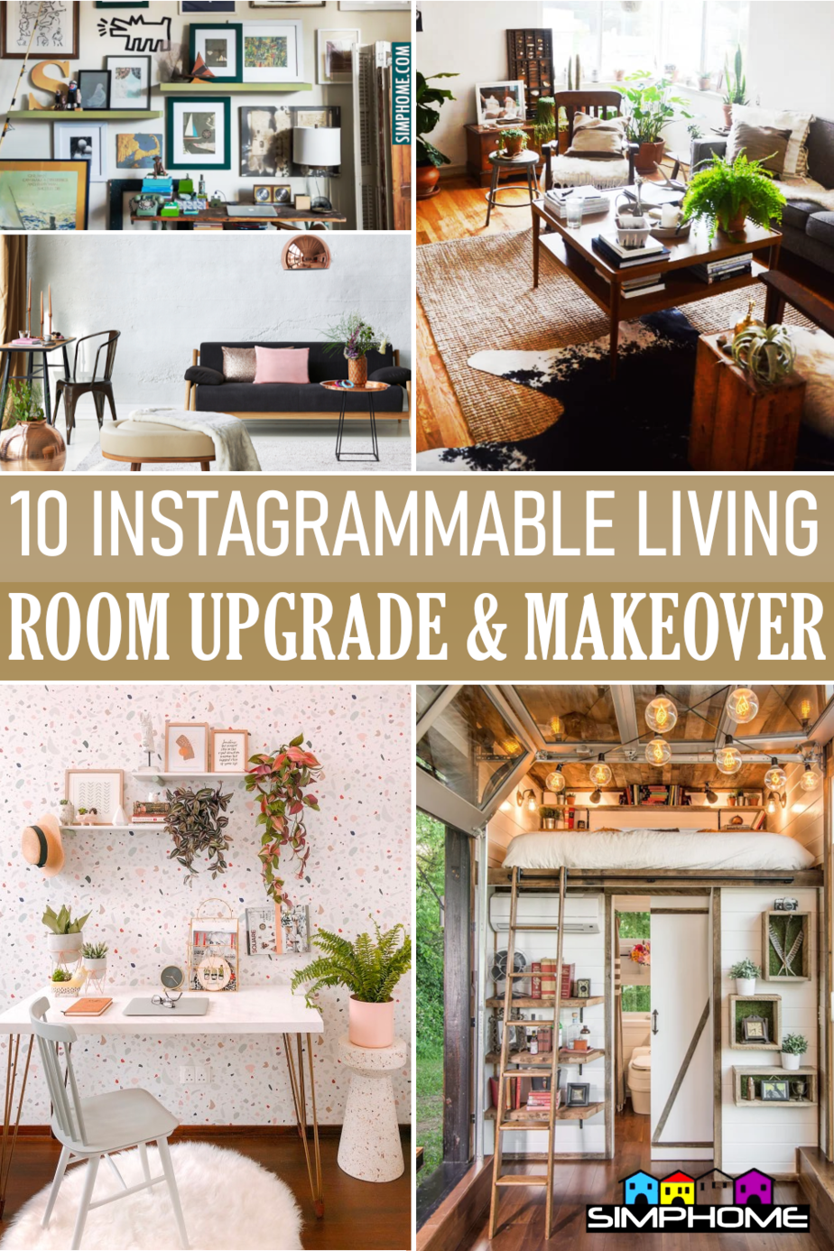 10 Instagrammable Living Room Upgrade Ideas via Simphome.comFeatured