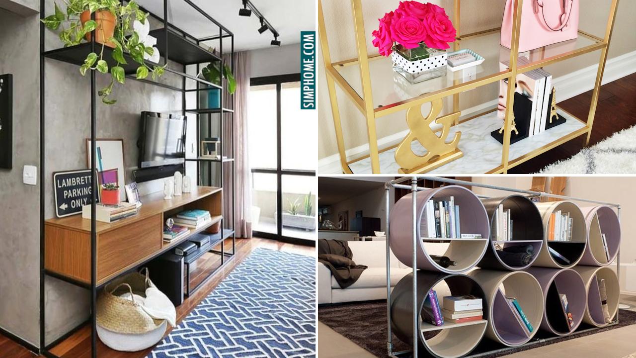 10 Living Room Shelves or Shelving Ideas via Simphome.com