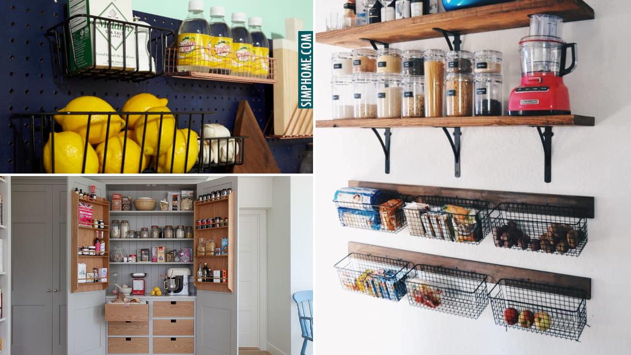 10 Small Kitchen with No Pantry Idea via Simphome.comthumbnail