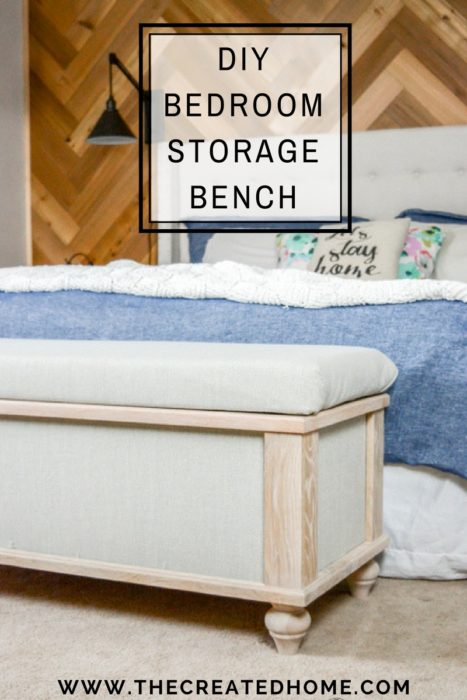 10. Build A DIY Upholstered Storage Bench by simphome.com