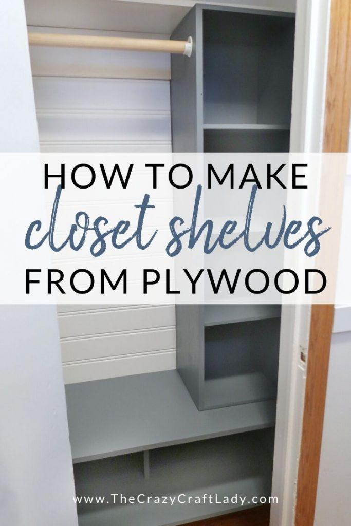 10. Complete your Small Bedroom with this DIY Entry Closet Shelves by simphome.com