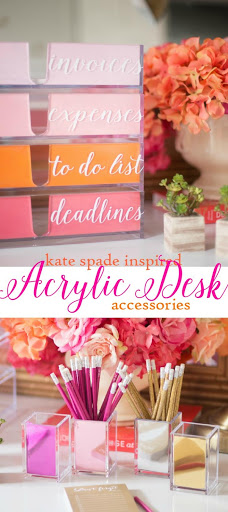 10. DIY kate spade inspired acrylic desk accessories by simphome.com