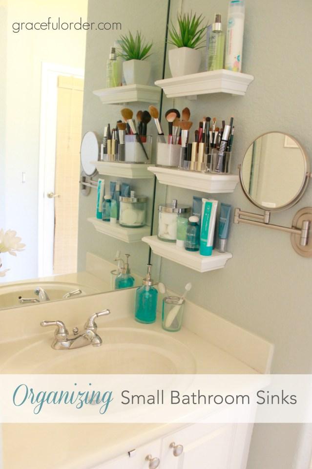 10. small bathroom sink organization idea by simphome.com