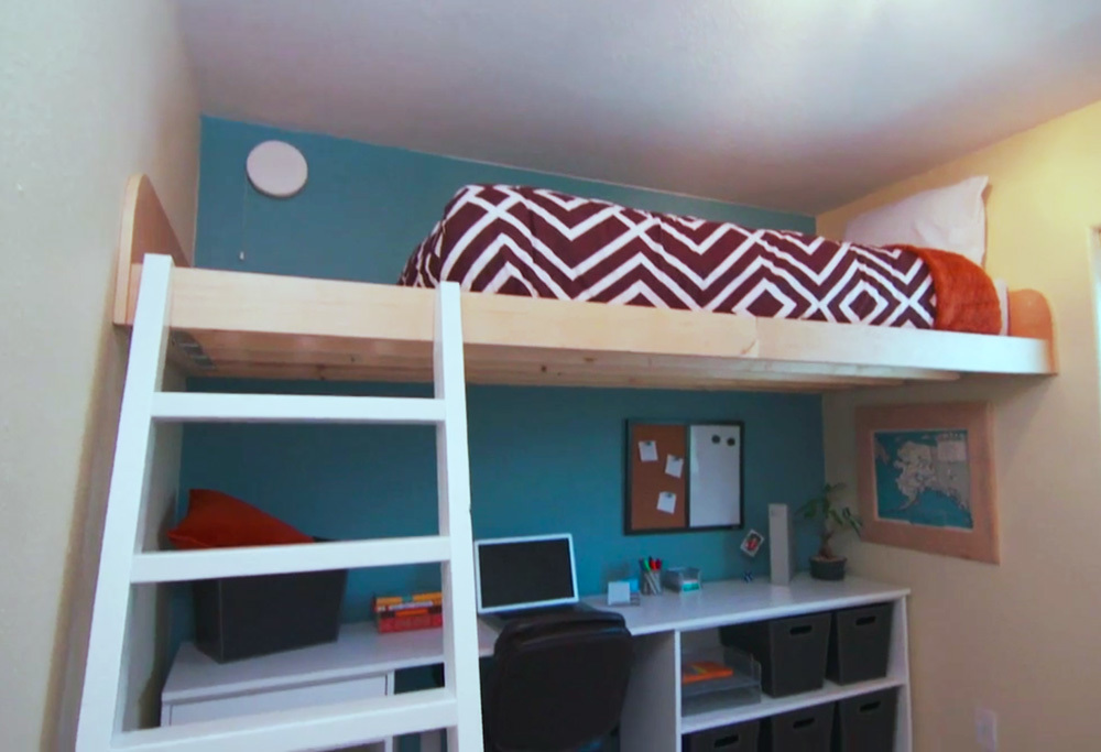 11. For A Really Tight Space Consider Getting A Loft Bed As Seen On HGTV Saving Alaska by