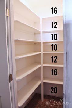 11. How to build pantry shelf using MDF Board by Thecraftpatchblog.com by simphome.com
