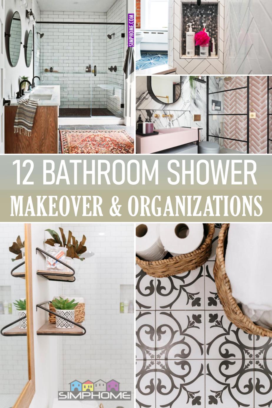12 Bathroom Shower Makeovers via Simphome.comFeatured