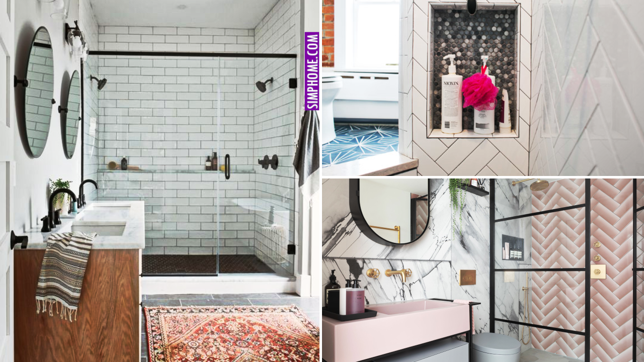 12 Bathroom Shower Makeovers via Simphome.comthumbnail