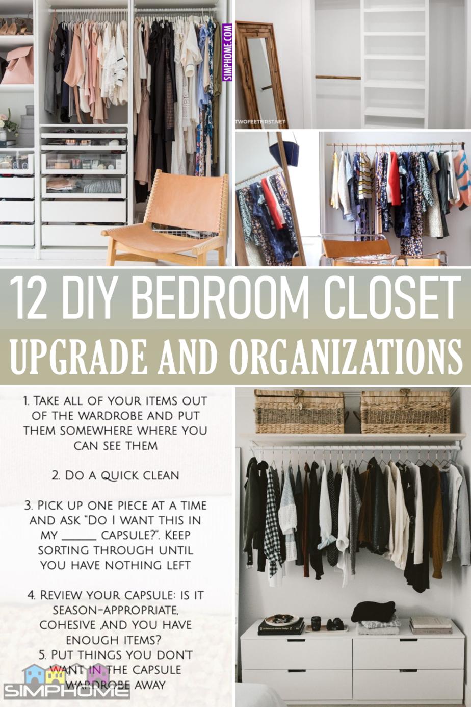 12 Bedroom Closet Organization via Simphome.comFeatured