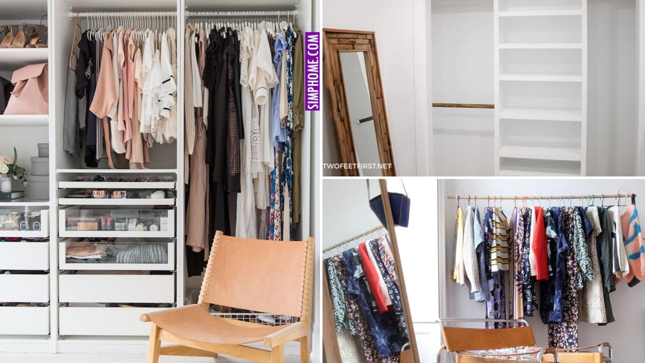 12 Bedroom Closet Organization via Simphome.comthumbnail