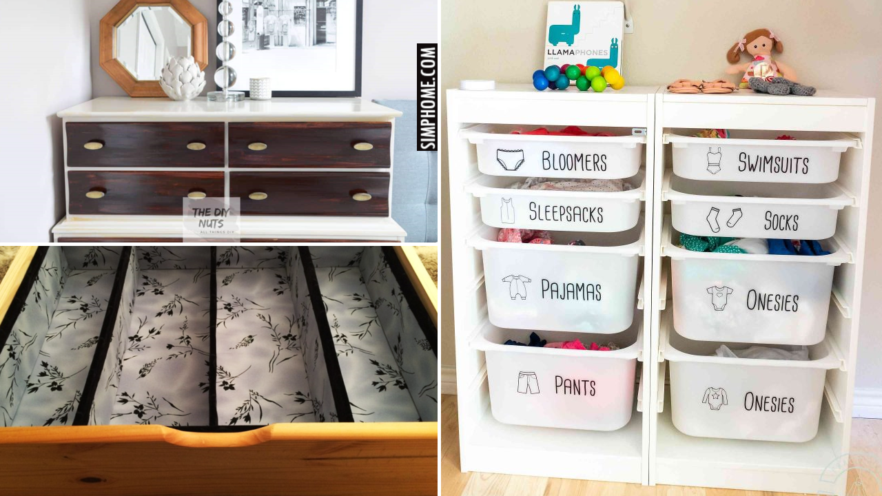 12 Bedroom Dresser Organization via Simphome.comThumbnail Blog