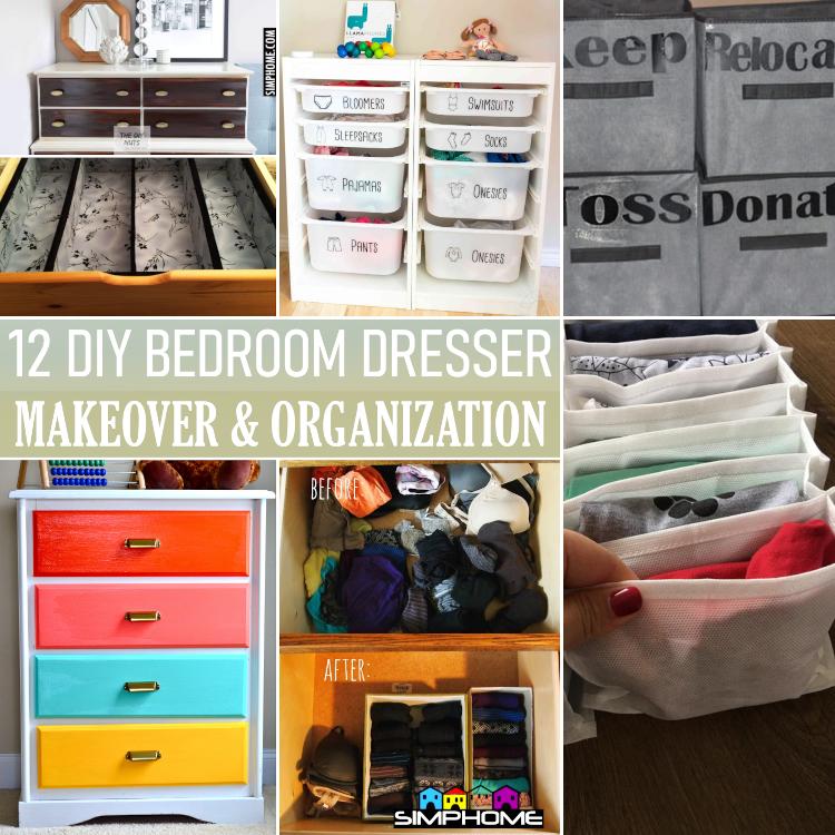 12 Bedroom Dresser Organization via Simphome.comytcc