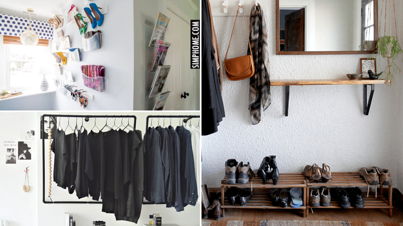 12 Bedroom Organization With No Closet Ideas via Simphome.comThumbnail Blog