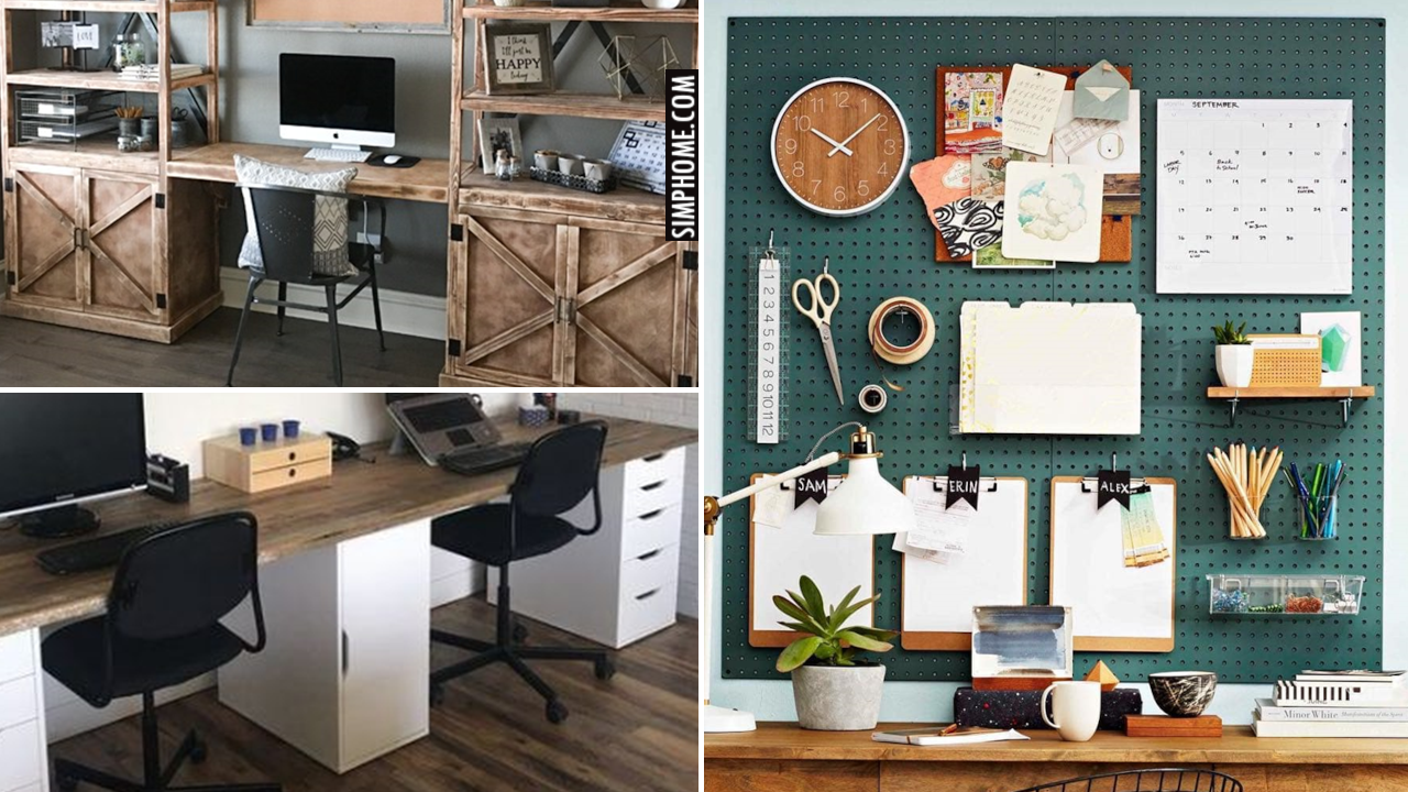 12 Cheap Desk organization ideas via Simphome.comThumbnail Blog