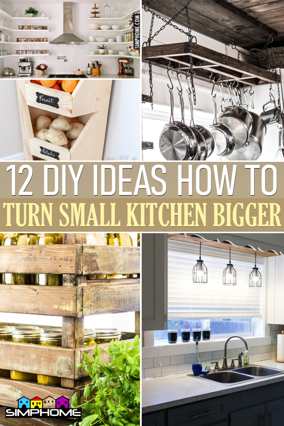 12 Ideas turn Small Kitchen Look Bigger via Simphome.comFeatured