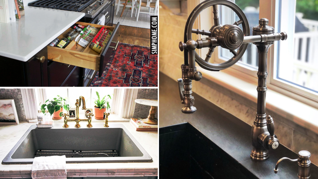 12 Kitchen Cabinet DIY Makeover Ideas via Simphome.comThumbnail