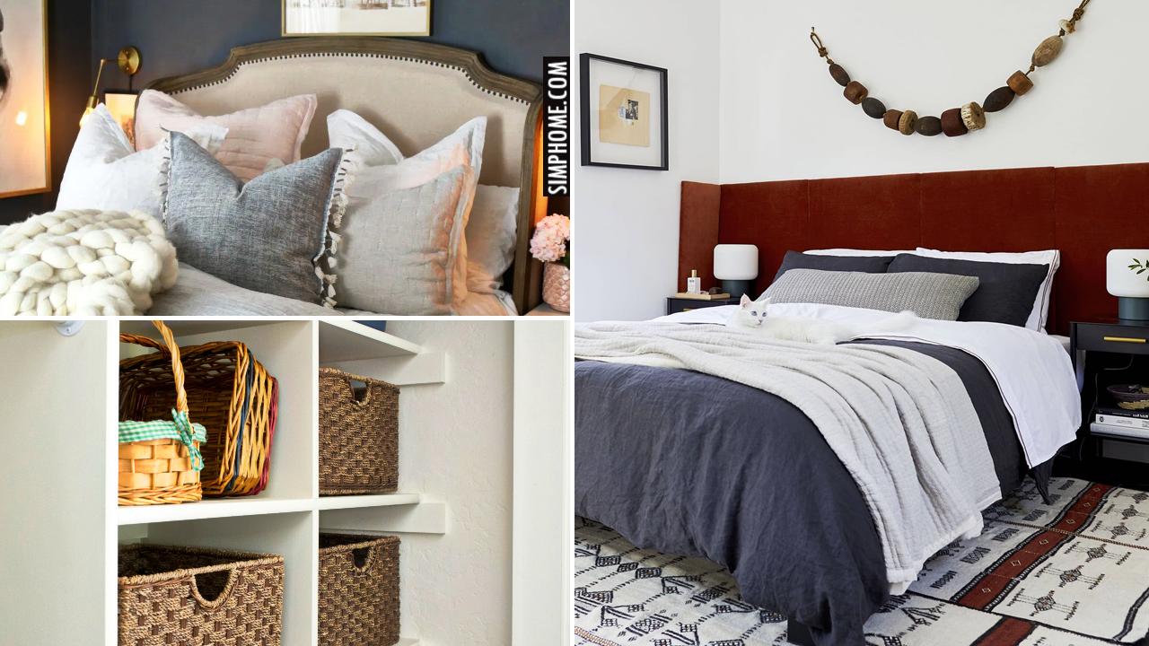 12 Small Master Bedroom Makeover Ideas via Simphome.comThumbnail