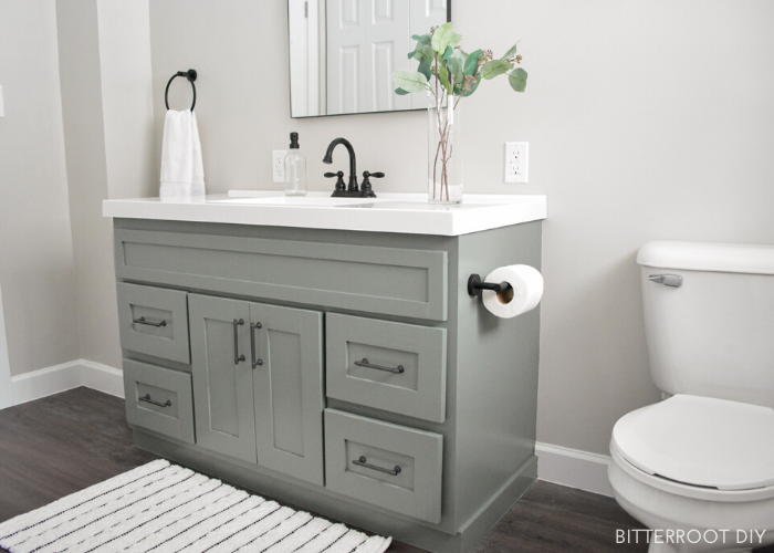 12. DIY bathroom vanity makeover by simphome.com