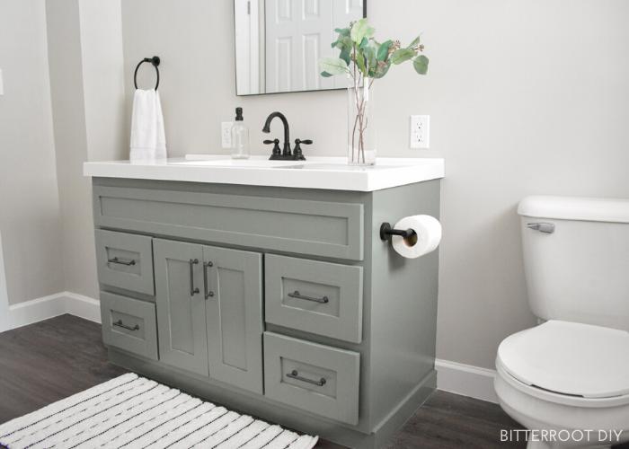 12. DIY bathroom vanity makeover by simphome.com
